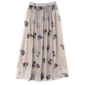 ROSE BUD / ローズ バッド フラワー刺繍スカート