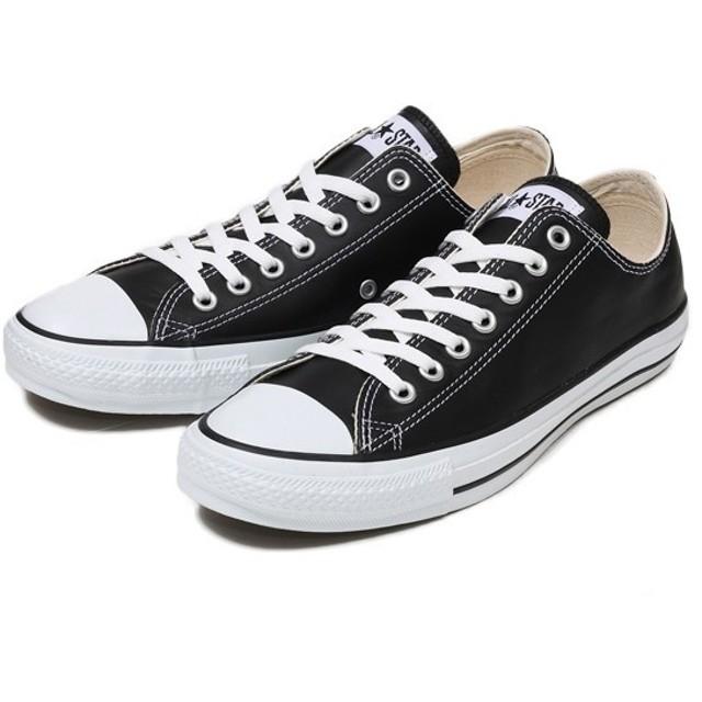 【converse】 コンバース LEATHER ALL STAR OX レザー オールスター オックス BLACK