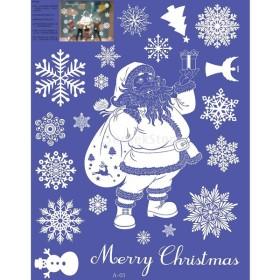 装飾  クリスマス デコレーション ウォール  ステッカー 家  全10様式 - 白い老人