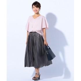 S size ONWARD(小さいサイズ) / エスサイズオンワード 【洗える】ロングギャザースカート