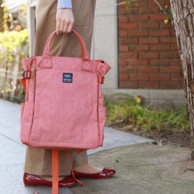 バッグ カバン 鞄 レディース リュック 10ポケット2WAYリュック カラー ピンク