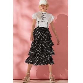 PROPORTION BODY DRESSING / プロポーションボディドレッシング  《EDIT COLOGNE》ドットプリントティアードスカート