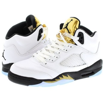 NIKE AIR JORDAN 5 RETRO BG ナイキ エア ジョーダン 5 レトロ BG WHITE/BLACK/METALLIC GOLD