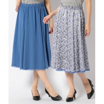 自由区 リバティオパールプリント スカート
