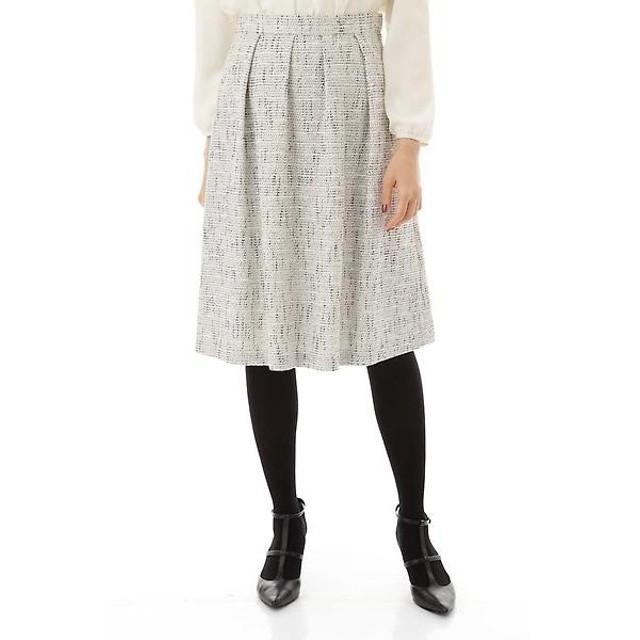 NATURAL BEAUTY / ナチュラルビューティー ラメカラミツィードスカート