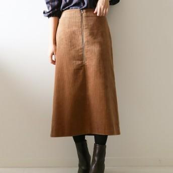 Spick and Span フトコール フロントZIPスカート◆ キャメル 34