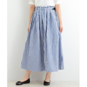 NIMES / ニーム L/Cシャンブレー&ギンガム マキシ丈スカート
