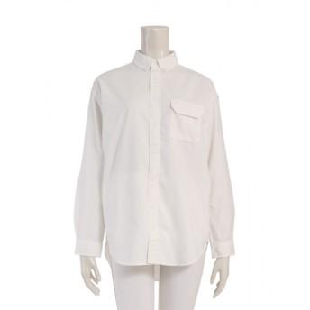 【中古】ノースフェイス パープルレーベル THE NORTH FACE PURPLE LABEL シャツ アイボリー WM トップス 長袖 無地 M NT3654N OX B.D Utility Shirt