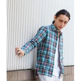 BEAUTY&YOUTH UNITED ARROWS / ビューティ&ユース ユナイテッドアローズ 【ネット限定】by ヴィンテージライク Wチェックシャツ (made in JAPAN)
