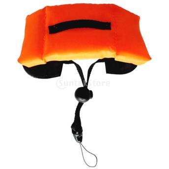 防水 フローティング フォーム 手首ストラップ アームハンド 水中 カメラ用 全3色 - オレンジ
