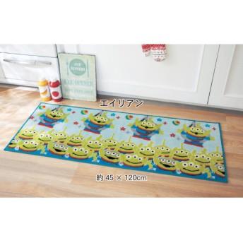 キッチンマット ディズニー プリントキッチンマット エイリアン ミッキーマウス 約45×120