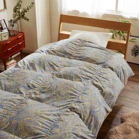 布団 掛け布団 羽毛布団 発熱素材を側地に使った軽量羽毛布団 カラー ブルー