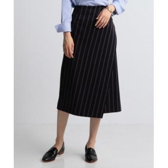 J.PRESS / ジェイプレス 【洗える!】レジメンタルストライプ ラップスカート