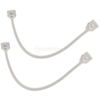 本革 ハンドバッグ バッグストラップ 厚手レザー 取り外し可能 交換用持ち手 58cm 2本入り 全5色選べ - 白