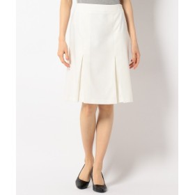 L size ONWARD(大きいサイズ) / エルサイズオンワード 【洗える】T/CリネンヘリンボンST スカート