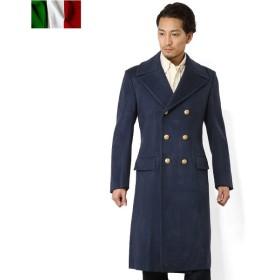 実物 イタリア軍エアフォース ウールロングコート メンズ ミリタリー ネイビー 軍服 軍物 軍用 放出品