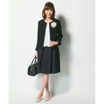 S size ONWARD(小さいサイズ) / エスサイズオンワード ('15春)タックボーダー スカート