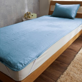 敷きパッド フレンチリネン 寝具 敷パッド パッド アッシュブルー シングル