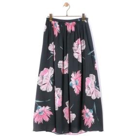 BEARDSLEY / ビアズリー 大花プリントギャザースカート