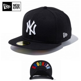 【メーカー取次】 NEW ERA ニューエラ 59FIFTY UNDERVISOR ニューヨーク・ヤンキース ブラック×ホワイト/マルチカラー BROOKLYN 12336655 キャップ ブランド