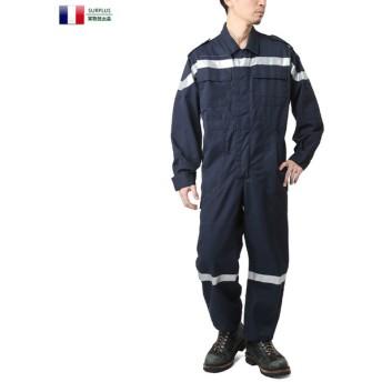 実物 フランス軍 / 消防局 カバーオール(リフレクター付) メンズ つなぎ オールインワン 作業着 デッドストック