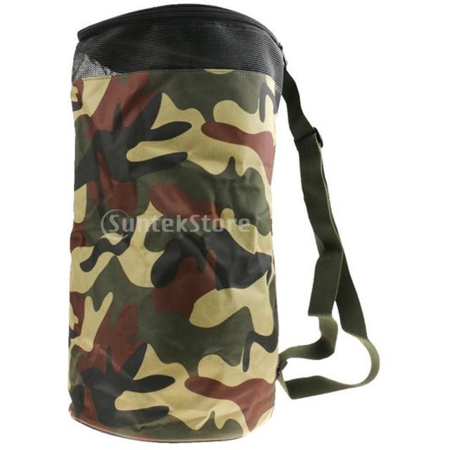 バスケットボール キャリーバッグ スポーツ 防水 バックパック ハンドバッグ 2ボール収納 全5色選ぶ - カモ
