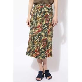 ROSE BUD / ローズ バッド プリントラップスカート