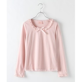 2137cb8a1500b Tシャツ - PlusNao Tシャツ 半袖 ラウンドネック レース キャミソール風 ...