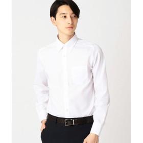 COMME CA ISM / コムサイズム イージーケア ドレスシャツ 市松ジャガード(釦ダウンカラー)