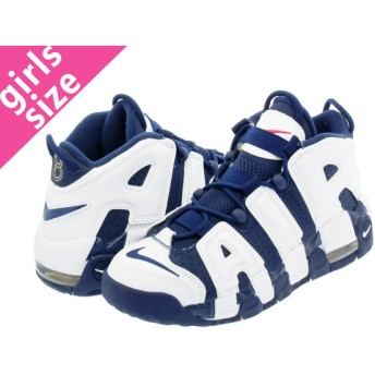 NIKE AIR MORE UPTEMPO GS OLYMPIC ナイキ モア アップ テンポ GS WHITE/MIDNIGHT NAVY/GOLD/RED レディース スニーカー ハイカット 415082-104