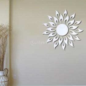 ノーブランド品ウォールステッカー 鏡効果 ミラー効果 鏡になる 剥がせる 27枚 太陽
