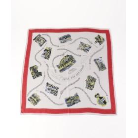SHIPS for women / シップスウィメン manipuri:65×65 プリントスカーフ