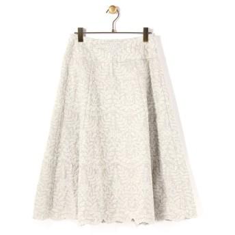 BEARDSLEY / ビアズリー 刺繍フレアスカート