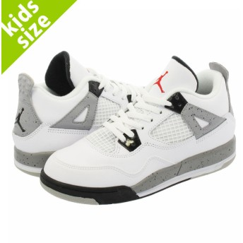 【キッズサイズ】【16-22cm】 NIKE AIR JORDAN 4 RETRO PS ナイキ エア ジョーダン 4 PS WHITE/FIRE RED/BLACK/MTT SILVER