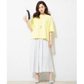 L size ONWARD(大きいサイズ) / エルサイズオンワード 【セットアップ可 / 洗える】Layered Twist Jersey スカート