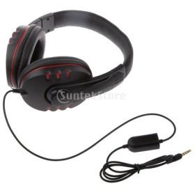PS4 XBOX ONE PC MP4 対応 軽量設計 有線 ヘッドセット/ヘッドフォン マイク付き