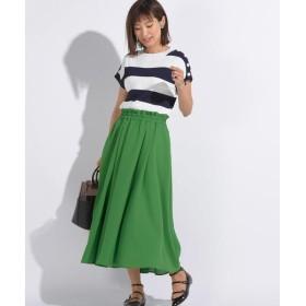 MAYSON GREY / メイソングレイ 【socolla】フレンチスリーブ配色ニットプルオーバー×ボリュームスカート