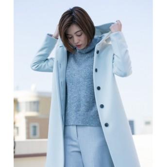 L size ONWARD(大きいサイズ) / エルサイズオンワード 【40.48サイズ有り】Lumi フーデット コート