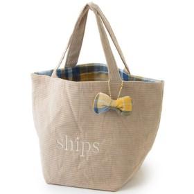 SHIPS for women / シップスウィメン コーデュロイ×チェック エコバッグ S