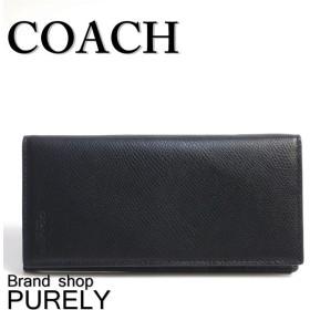 375b02426519 全品ポイント2倍 コーチ COACH 財布 メンズ クロスグレイン レザー ブレスト ポケット ウォレット 長財布