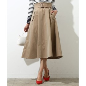 ROPE' / ロペ 【ベルト付き】フラップポケットフレアースカート