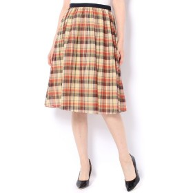 un dix cors / アンディコール スラブチェックギャザースカート