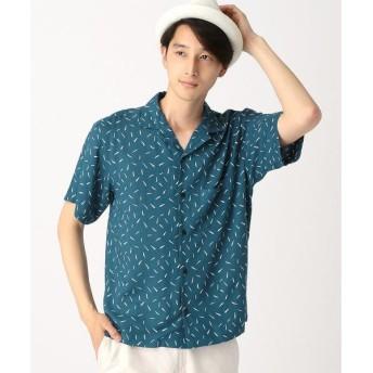 COMME CA ISM / コムサイズム アート柄プリントオープンカラーシャツ