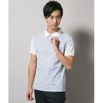 J.PRESS / ジェイプレス GIZA FRESCO×バティック切替ポロシャツ