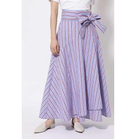 ROSE BUD / ローズ バッド マルチストライプマキシ丈スカート