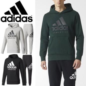 スウェット 上下セット メンズ/アディダス adidas M SPORT ID ATHLETICS ロゴ 裏起毛 プルオーバーパーカー パンツ 男性用 上下組 /EBW85-DLF14