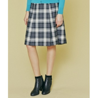 J.PRESS / ジェイプレス ウールチェックサキソニー スカート