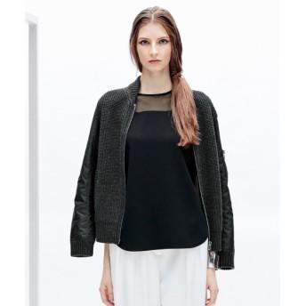 L size ONWARD(大きいサイズ) / エルサイズオンワード Synthetic Wool MA-1ブルゾン