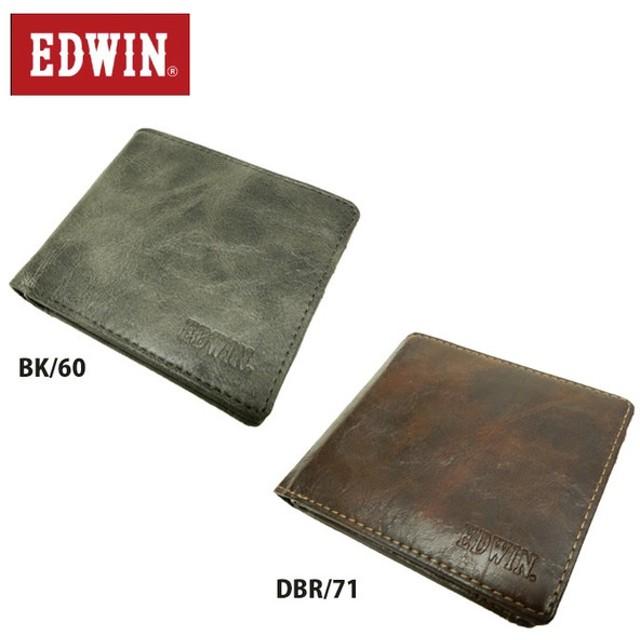 a35a6fb6de42 エドウィン EDWIN レトロ合皮 二つ折り財布 12239720 プレゼント 父の日 ギフト 贈り物 od
