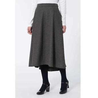 HUMAN WOMAN / ヒューマンウーマン ウール前後差スカート